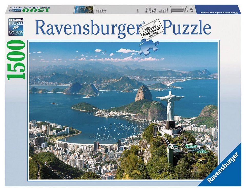 Ravensburger Puzzle, 1500 Teile, »Blick auf Rio«