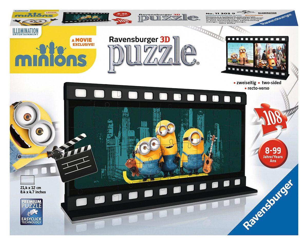 Ravensburger 3D Puzzle, 108 Teile, »Filmstreifen Minion Le Buddies«