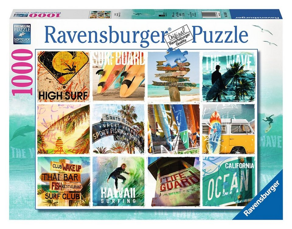 Ravensburger Puzzle, 1000 Teile, »Surfin USA«