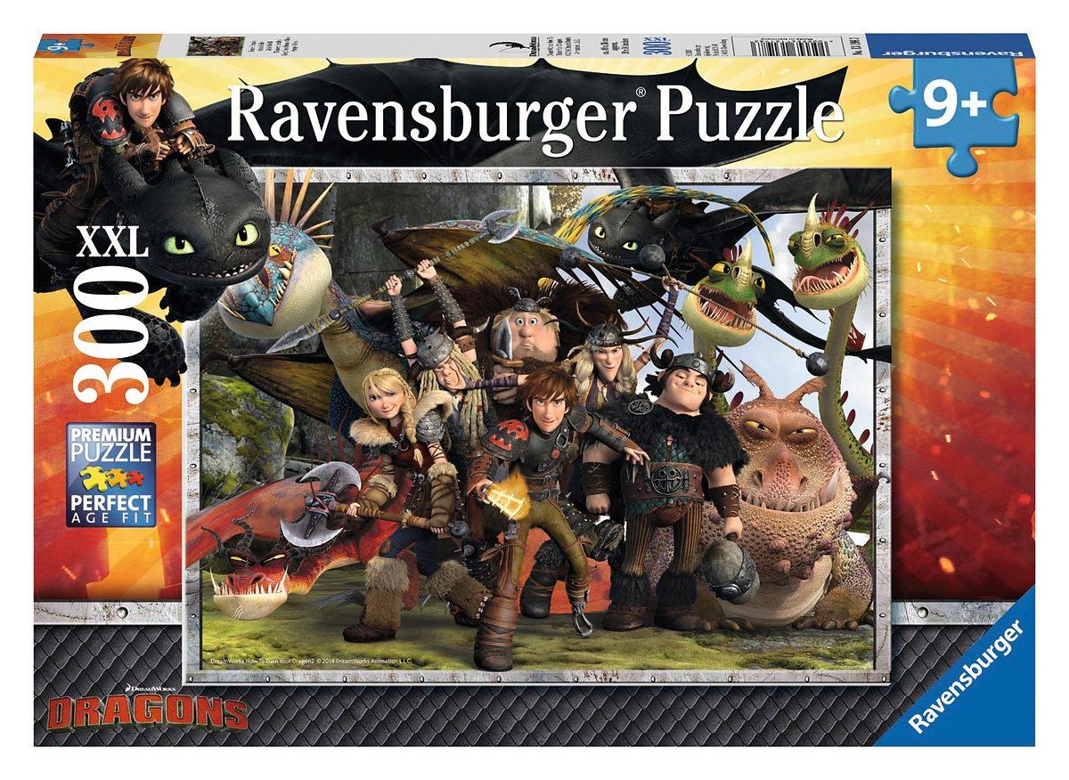 Ravensburger Puzzle, 300 Teile, »Dragons - Treue Freunde«