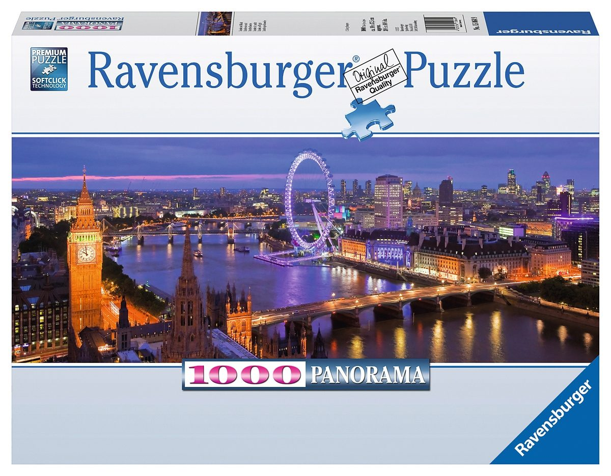 Ravensburger Puzzle, 1000 Teile, »Panorama - London bei Nacht«