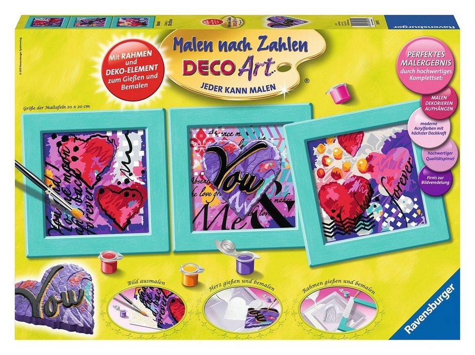 Ravensburger Malen nach Zahlen, »Deco Art Herzen«