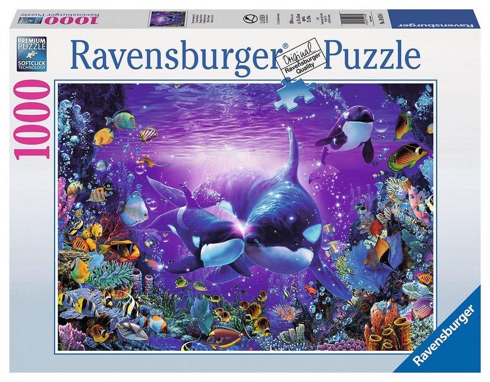 ravensburger puzzle 1000 teile unterwasserromantik. Black Bedroom Furniture Sets. Home Design Ideas