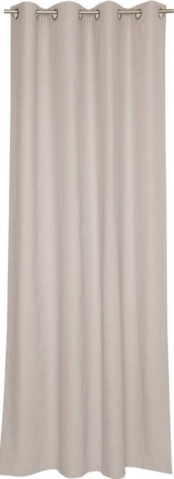 Vorhang, Schöner Wohnen, »Flannel«, mit Ösen (1 Stück) in natur