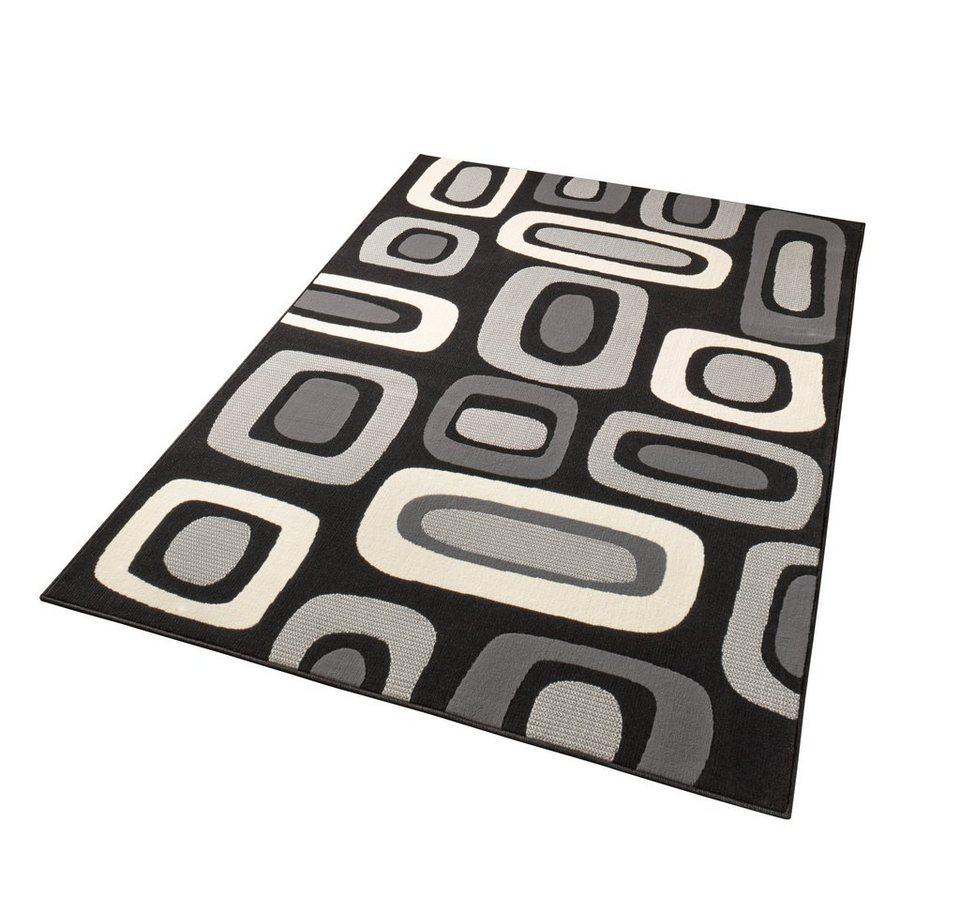 Teppich »Brick«, Hanse Home, rechteckig, Höhe 9 mm in schwarz
