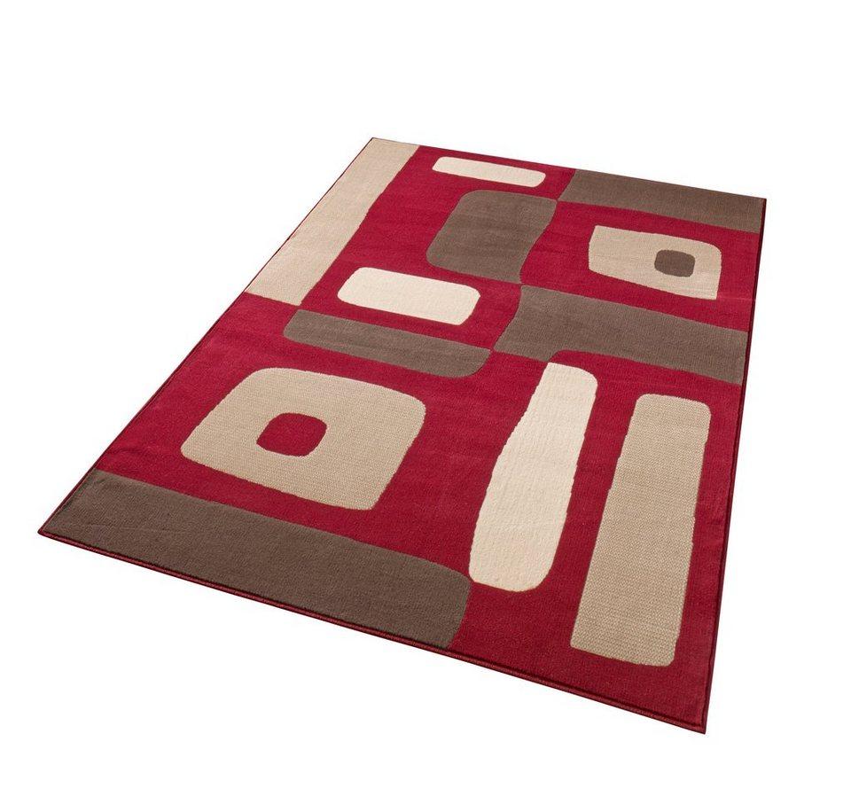 Teppich, Hanse Home, »Geo«, gewebt in Rot