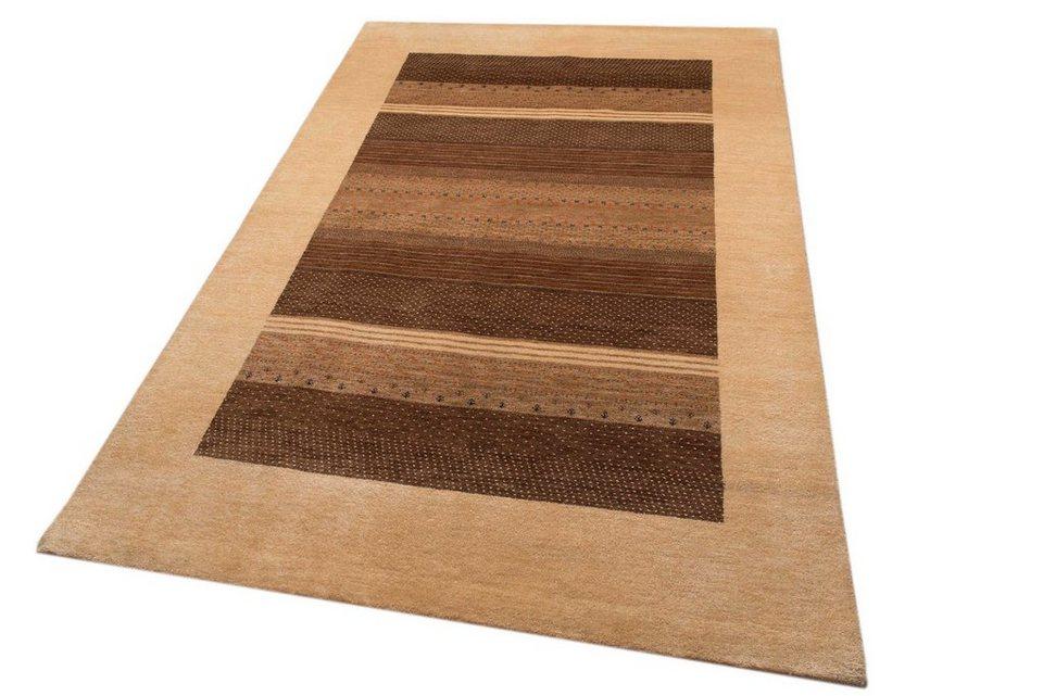 Orient-Teppich, Parwis, »Rati«, handgeknüpft, 92.000 Knoten/m², Unikat in braun