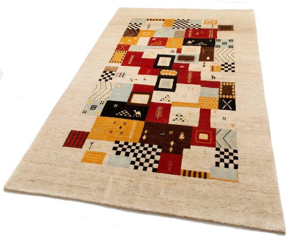 Orient-Teppich, Parwis, »Shiva«, handgearbeitet, Wolle, 92 000 Knoten/m², Unikat in farbig