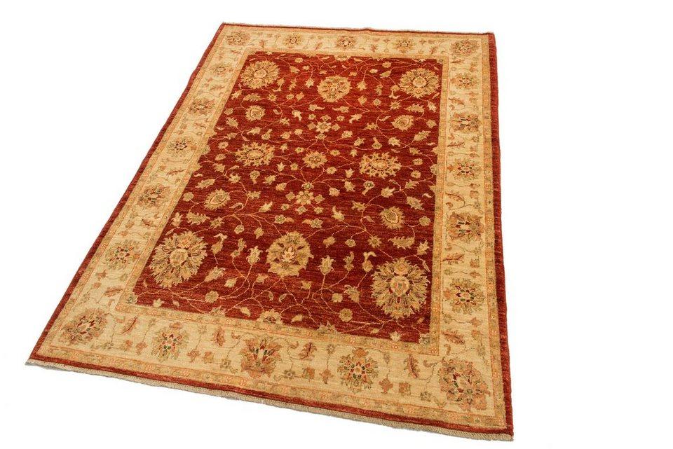 Orient-Teppich, Parwis, »Ziegler-Nila«, handgeknüpft, 140.000 Knoten/m², reine Schurwolle, Unikat in rot
