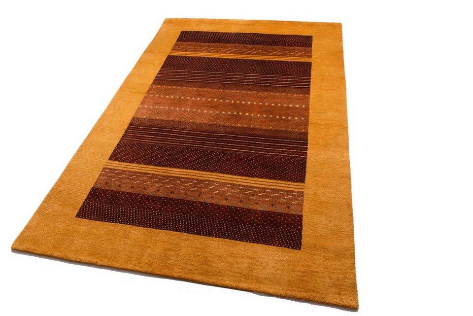 Orient-Teppich, Parwis, »Uma«, handgeknüpft, mit Seidenanteil, 92 000 Knoten/m², Unikat in terra