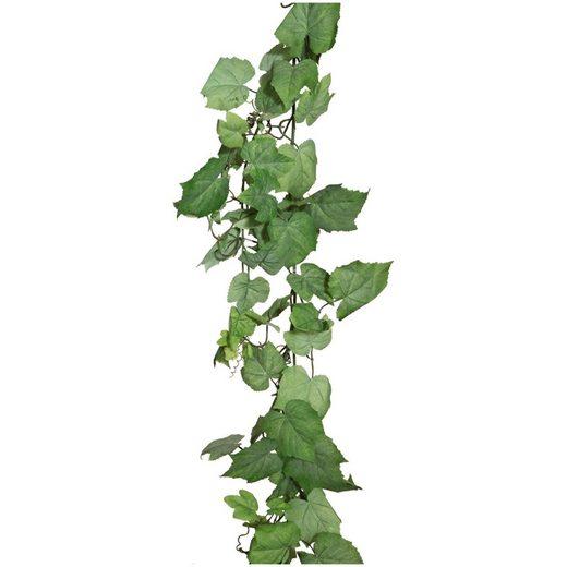 Kunstranke »Weinlaubgirlande«, Creativ green, Höhe 165 cm