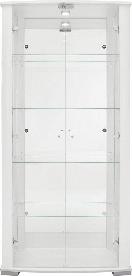 Vitrine, Höhe 178 cm in weiß Hochglanz