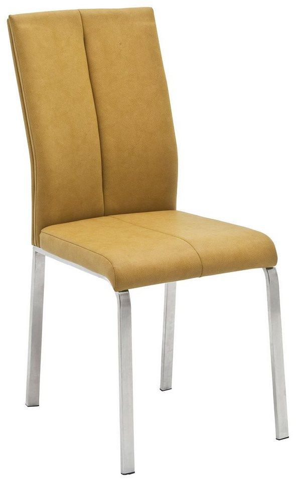 Stühle 4 Fuß Gestell in Edelstahl 2 Stück