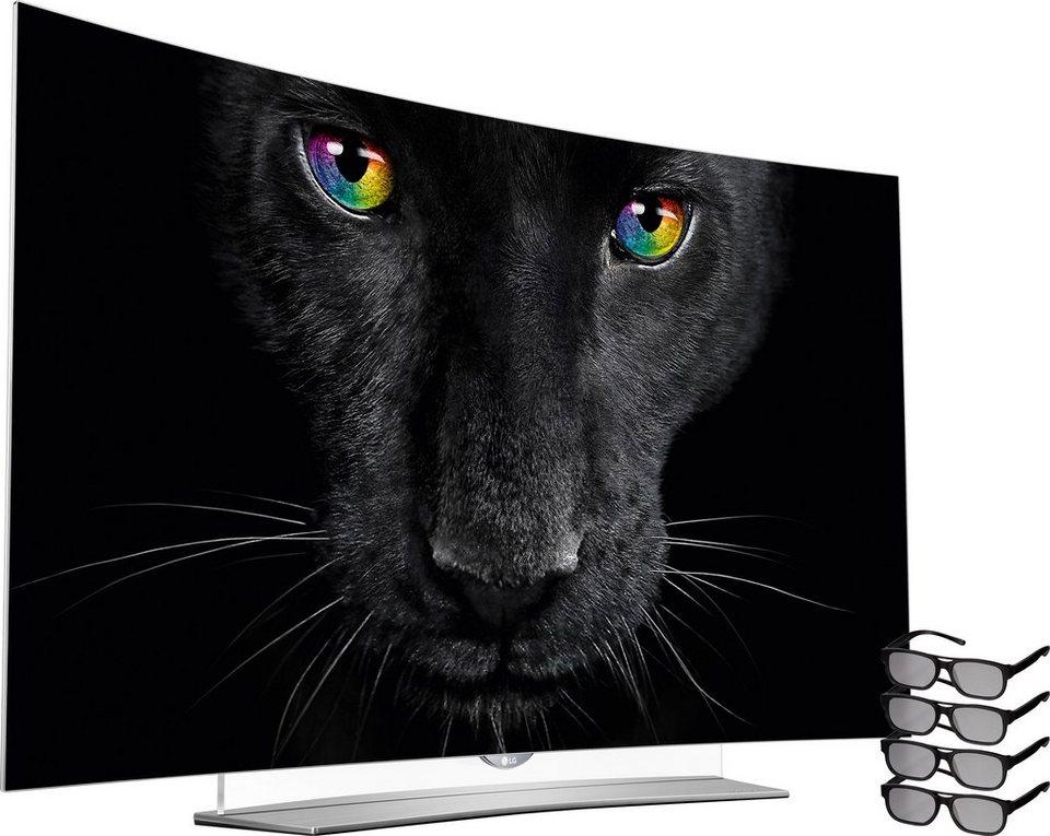 LG 65EG9609, Curved-OLED-Fernseher, 164 cm (65 Zoll), 2160p (4K Ultra HD), Smart-TV in silberfarben