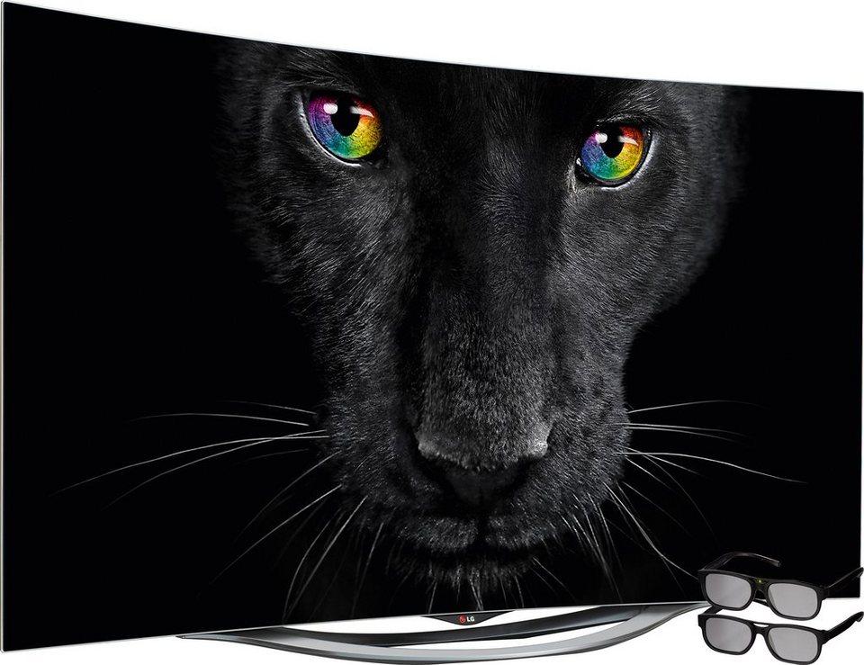 LG 55EC940V, Curved-OLED-Fernseher, 139 cm (55 Zoll), 1080p (Full HD), Smart-TV in silberfarben