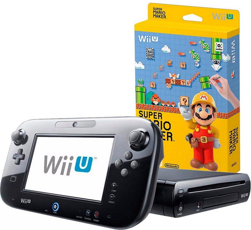 Wii U Premium Pack + Super Mario Maker mit 3 Jahren Garantie* in schwarz