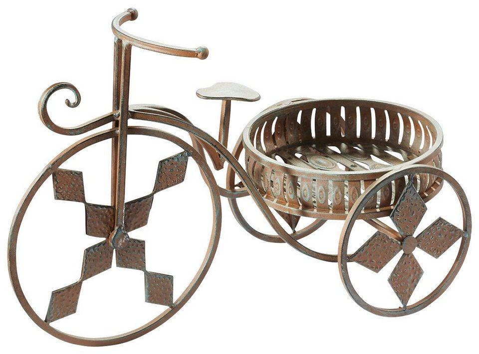 Home affaire Pflanzenständer »Fahrrad« in braun