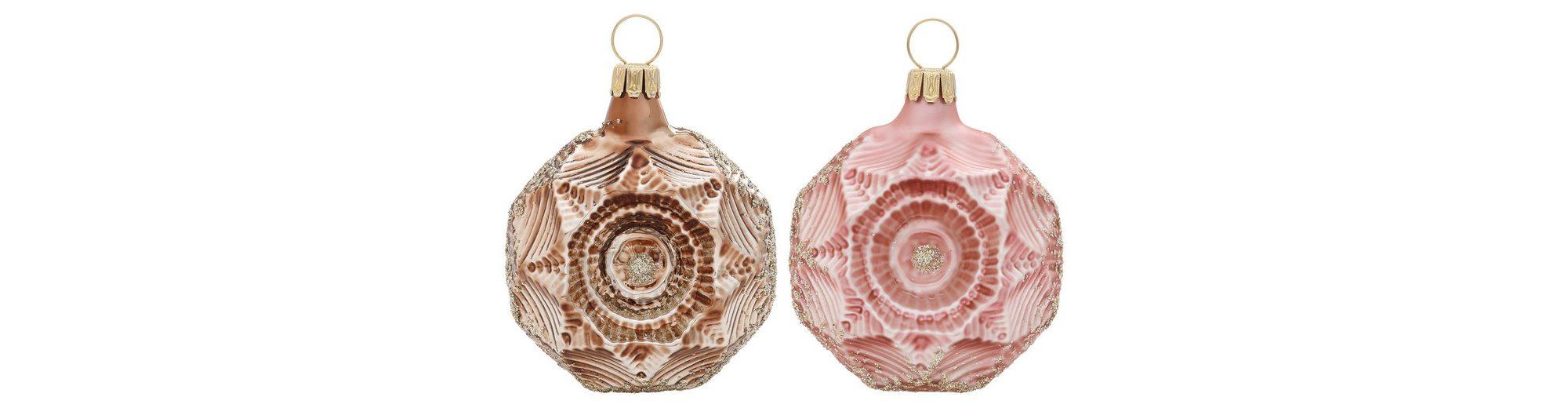 Thüringer Glasdesign TGS-Christbaumschmuck Medaillons, Made in Germany, »Romantik« (6tlg.)