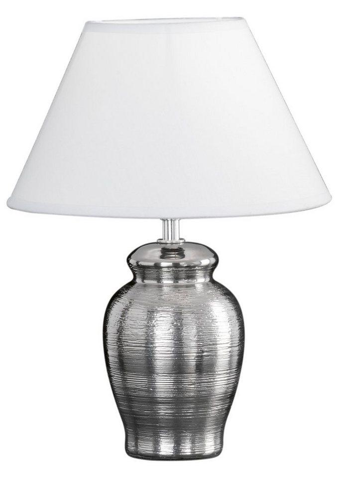 Honsel Leuchten Tischleuchte, 1 flammig, ohne Leuchtmittel in Leuchtensockel matt, glänzend mit weißem Schirm
