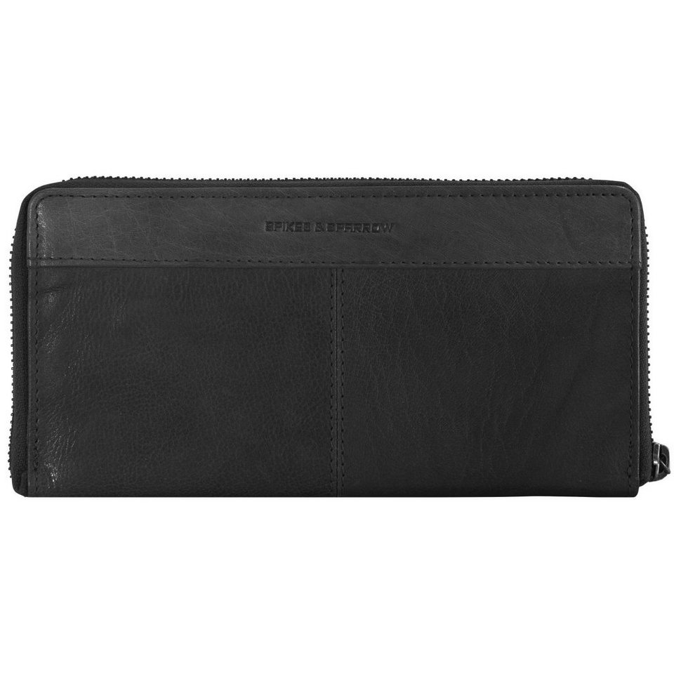 Spikes & Sparrow Bronco Wallets Geldbörse Leder 20 cm in black