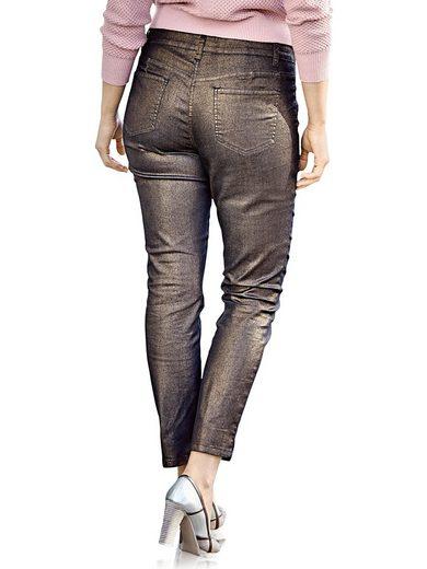 RICK CARDONA by Heine Bodyform-Push-up-Jeans mit Glanzeffekt