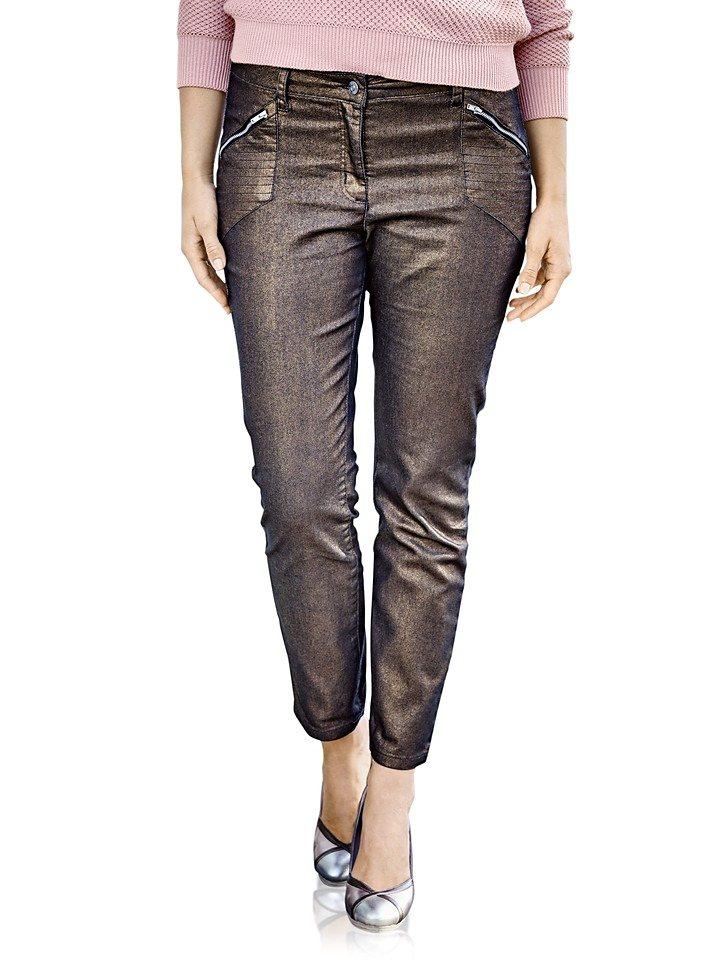 heine STYLE Push-up Jeans mit Glanzeffekt | Bekleidung > Jeans > Push-Up Jeans | Braun | Elasthan | heine