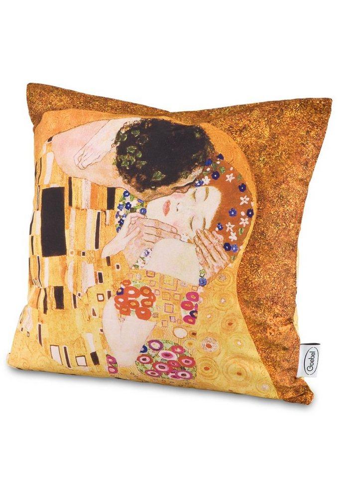 Goebel Kissenhülle nach Gustav Klimt, »Der Kuss - Lebensbaum« in goldfarben