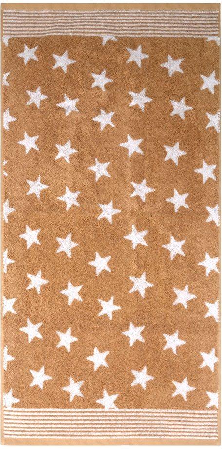Handtücher, Dyckhoff, »Stars«, mit Sternen und Bordüre in braun