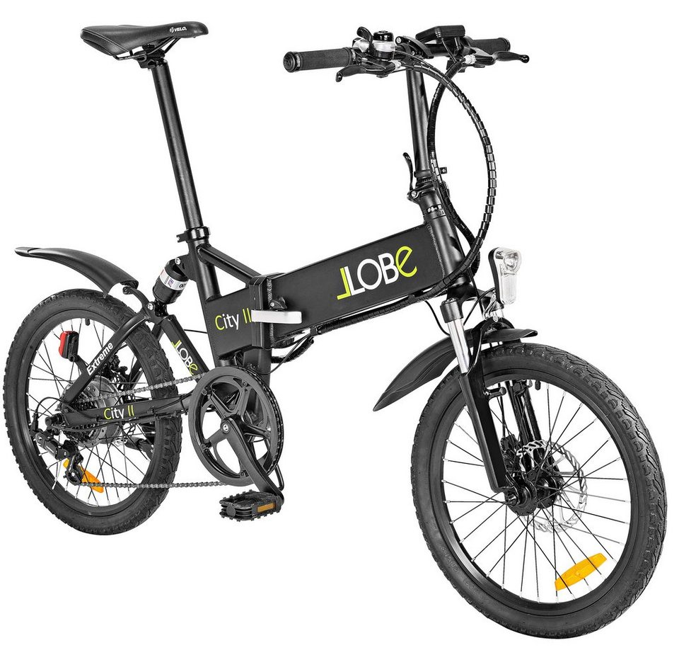 llobe e bike klapprad city ii 20 zoll 7 gang heckmotor 281 wh online kaufen otto. Black Bedroom Furniture Sets. Home Design Ideas