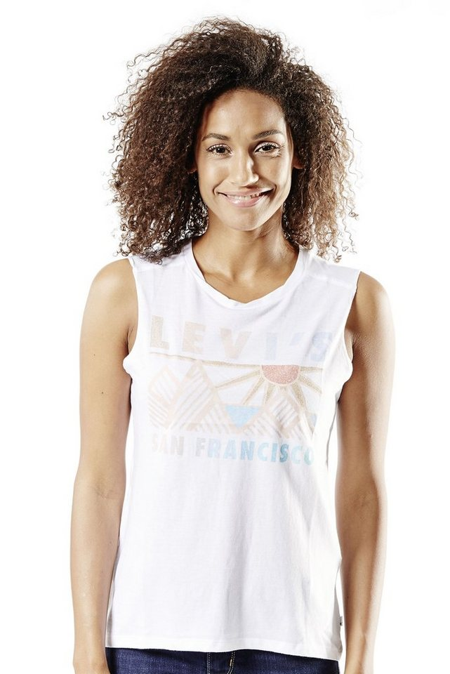 Levi's® Tank Top »Graphic Muscle Tank« in Pyramid Peak - White