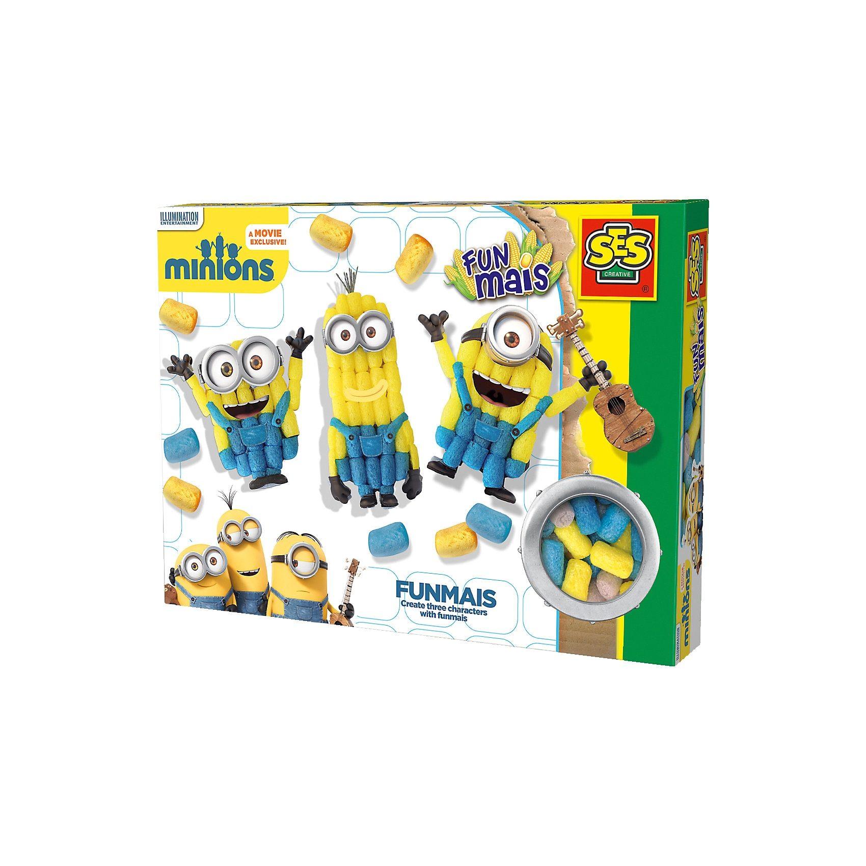 SES Creative 24996 FUNmais Minions Mix, 400 Maisbausteine