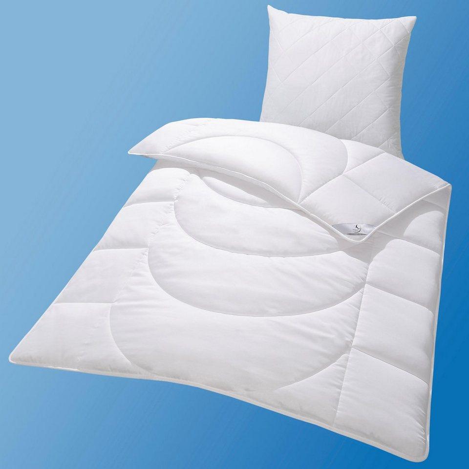 Kunstfaserbettdecke, »DE LUXE Cotton Satin 95° C«, John Cotton, Warm
