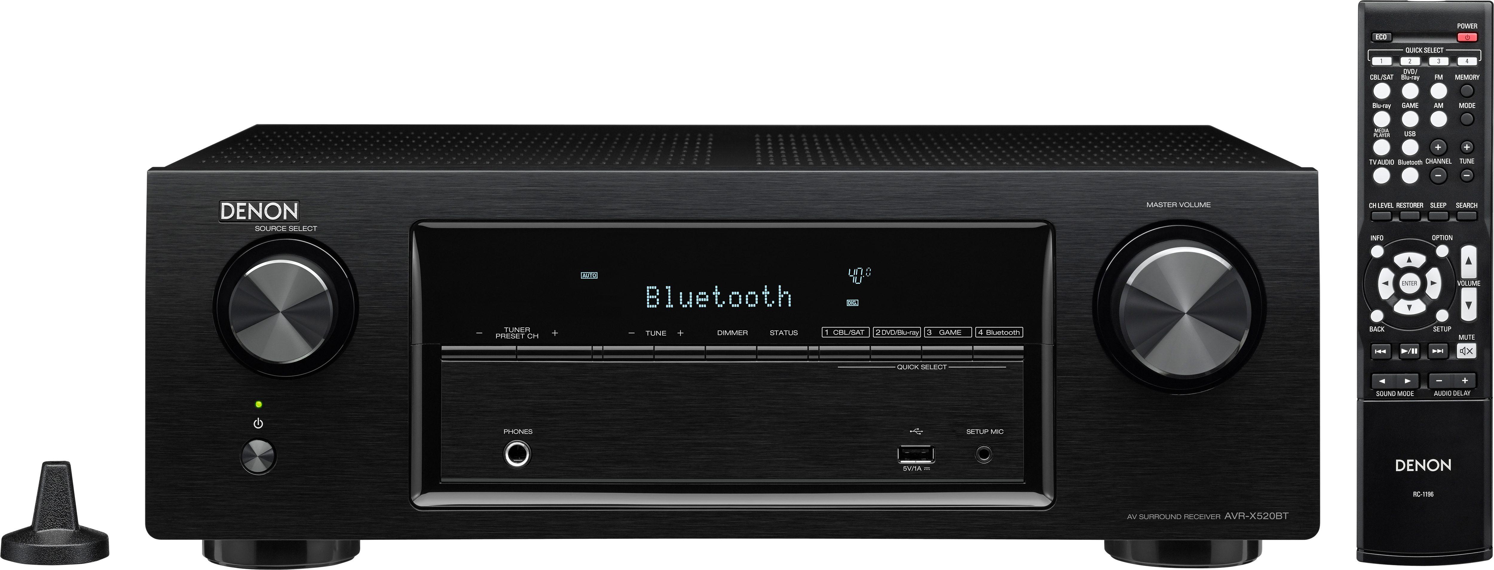 Denon AVR-X520BT 5.2 AV-Receiver (3D, Bluetooth)