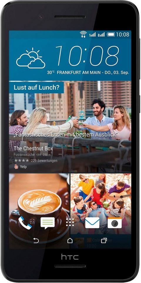 HTC Desire 728G classic Smartphone, 13,9 cm (5,5 Zoll) Display, Android 5.1 Lollipop, 13,0 Megapixel in schwarz