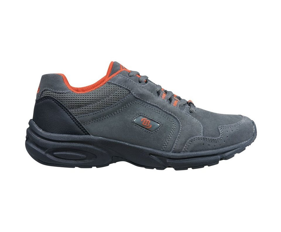 Brütting Nordic Walking Schuh aus Veloursleder »CIRCLE« in anthrazit/orange