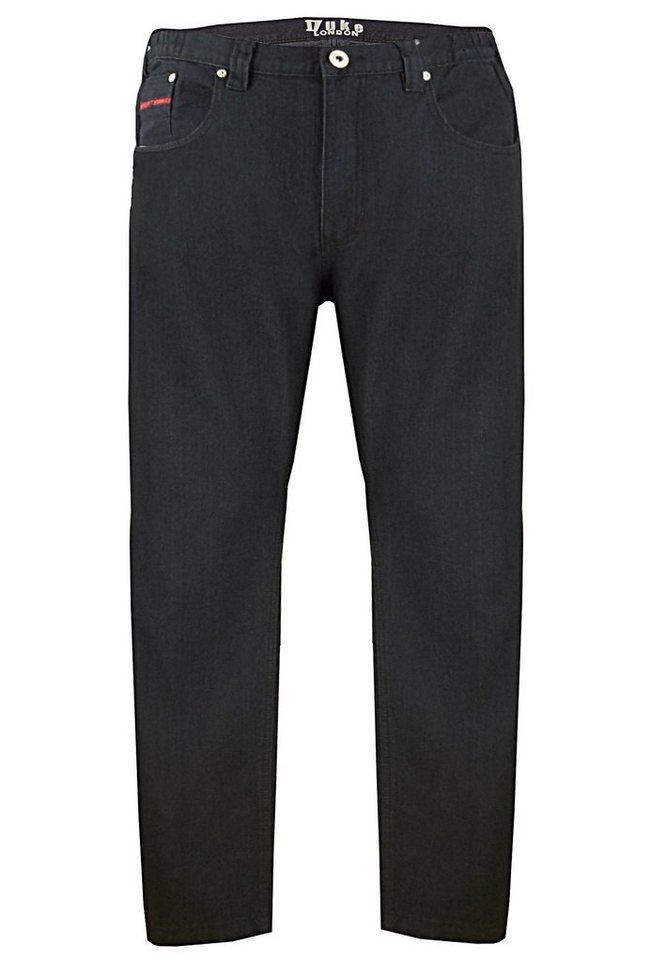 Duke London Jeans Stretch in Schwarz