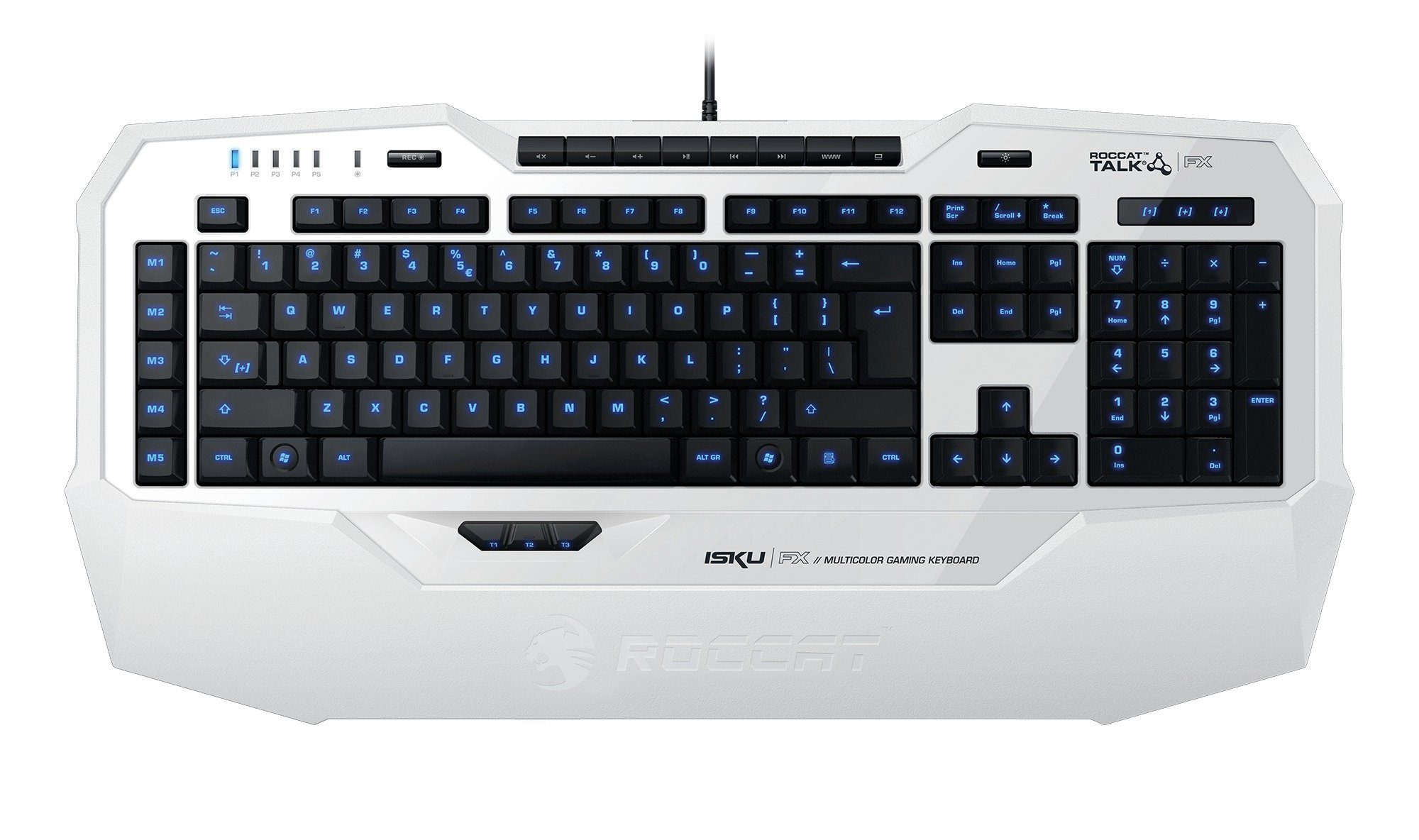 ROCCAT Gaming Tastatur »Isku FX Multicolor Gaming Keyboard weiß«