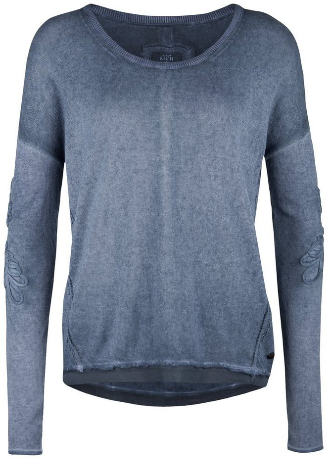 Better Rich Pullover »CREW PULLOVER CREPE« in iris blue