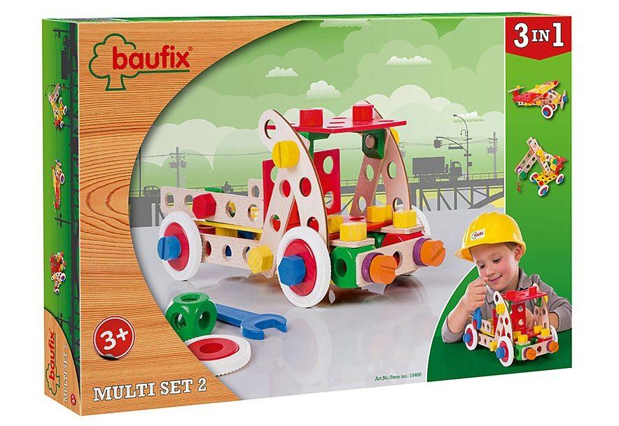 Baufix Holz Bauset, 95 Teile, »Multi Set 2«