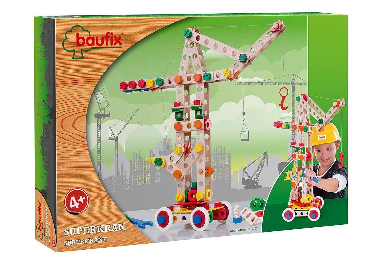 Baufix Holz Bauset, 158 Teile, »Superkran«