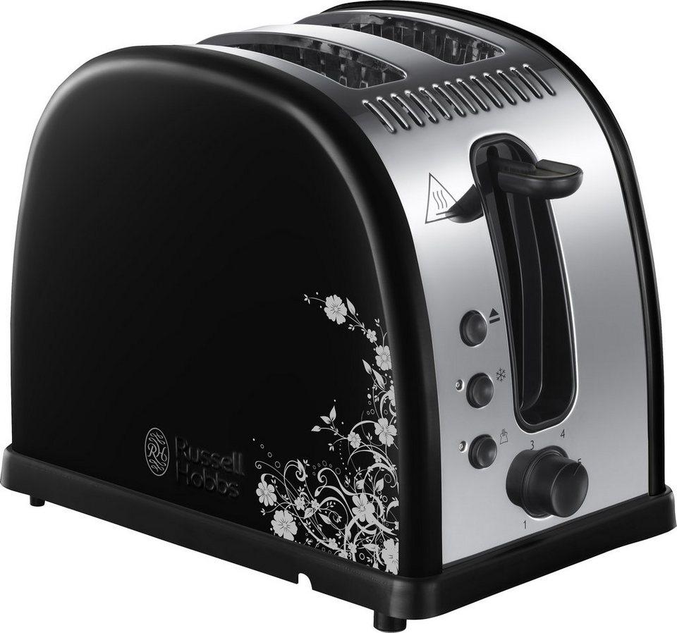 Russell Hobbs Toaster Legacy Floral 21971-56 für 2 Scheiben, max. 1300 Watt in schwarz