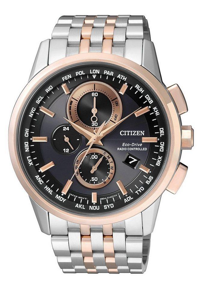 Citizen Funkchronograph »AT8116-65E« in silberfarben-goldfarben