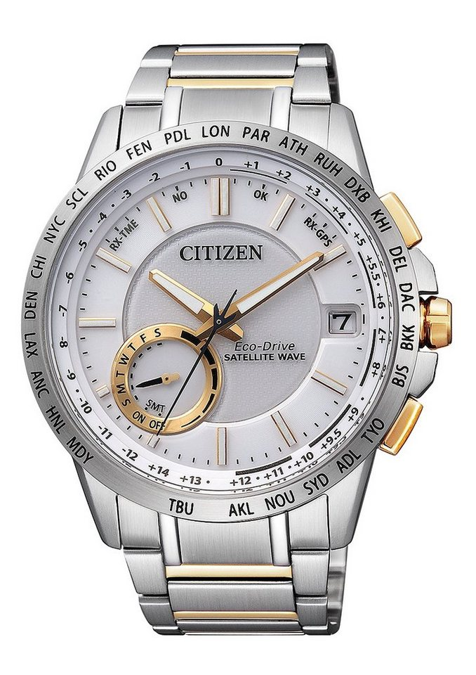 Citizen Solaruhr »CC3004-53A« Mit Satelitte Timekeeping System in silberfarben-goldfarben