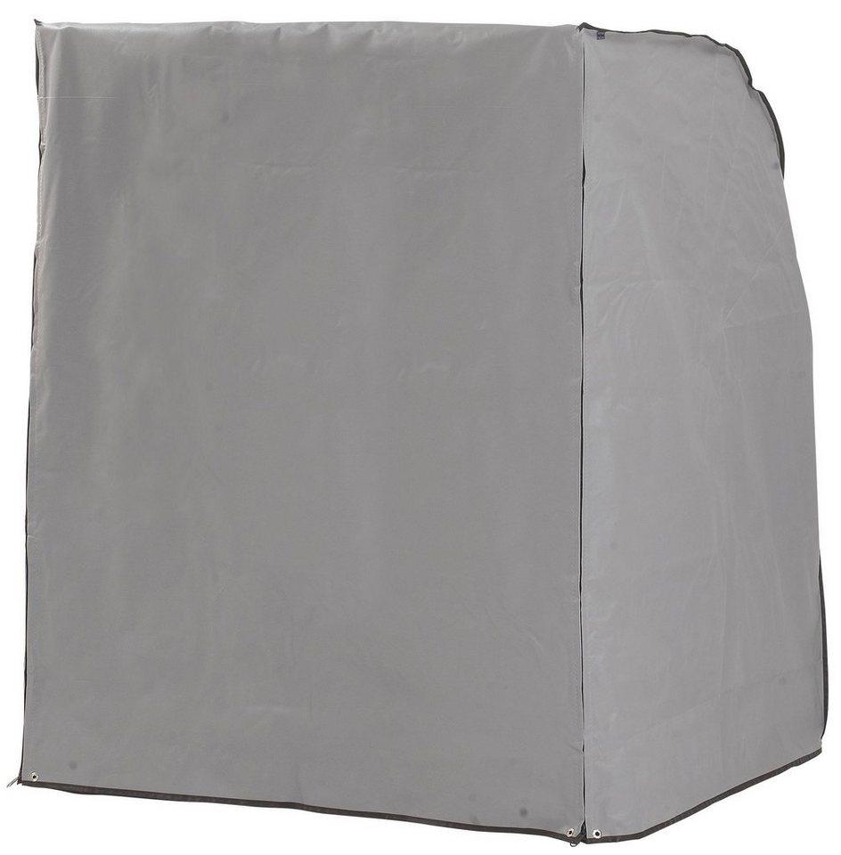 Strandkorb Schutzhülle für 2-Sitzer, Steingrau in grau