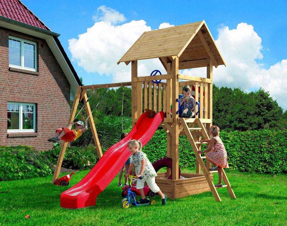 KARIBU Set: Spielturm »Hummel«, BxT: 158x151 cm, inkl ...