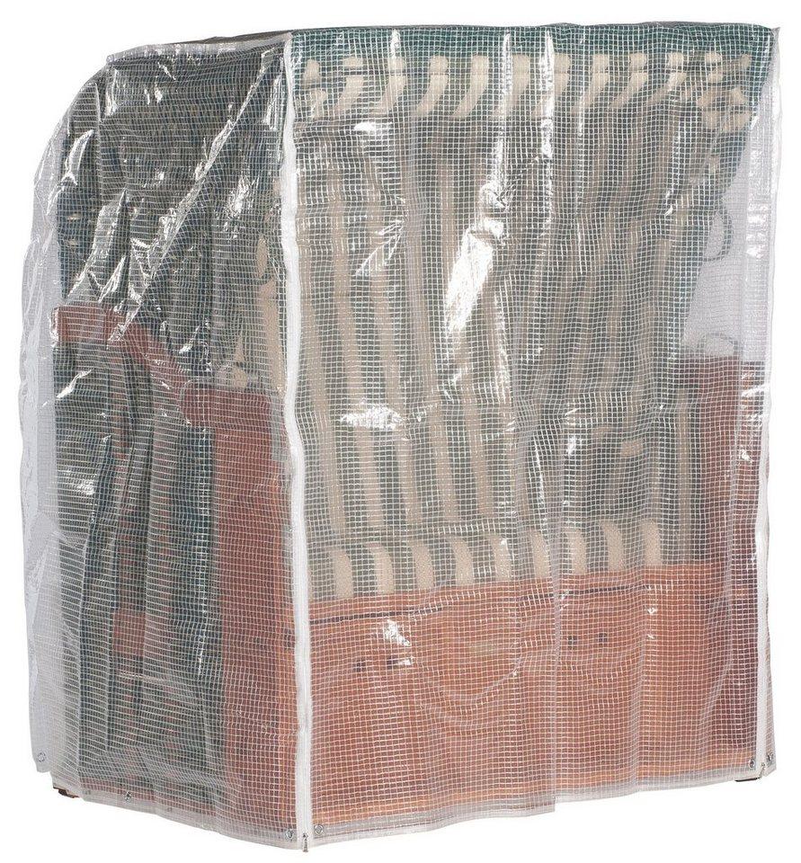Strandkorb Schutzhülle für 2-Sitzer XL, Transparent in weiß