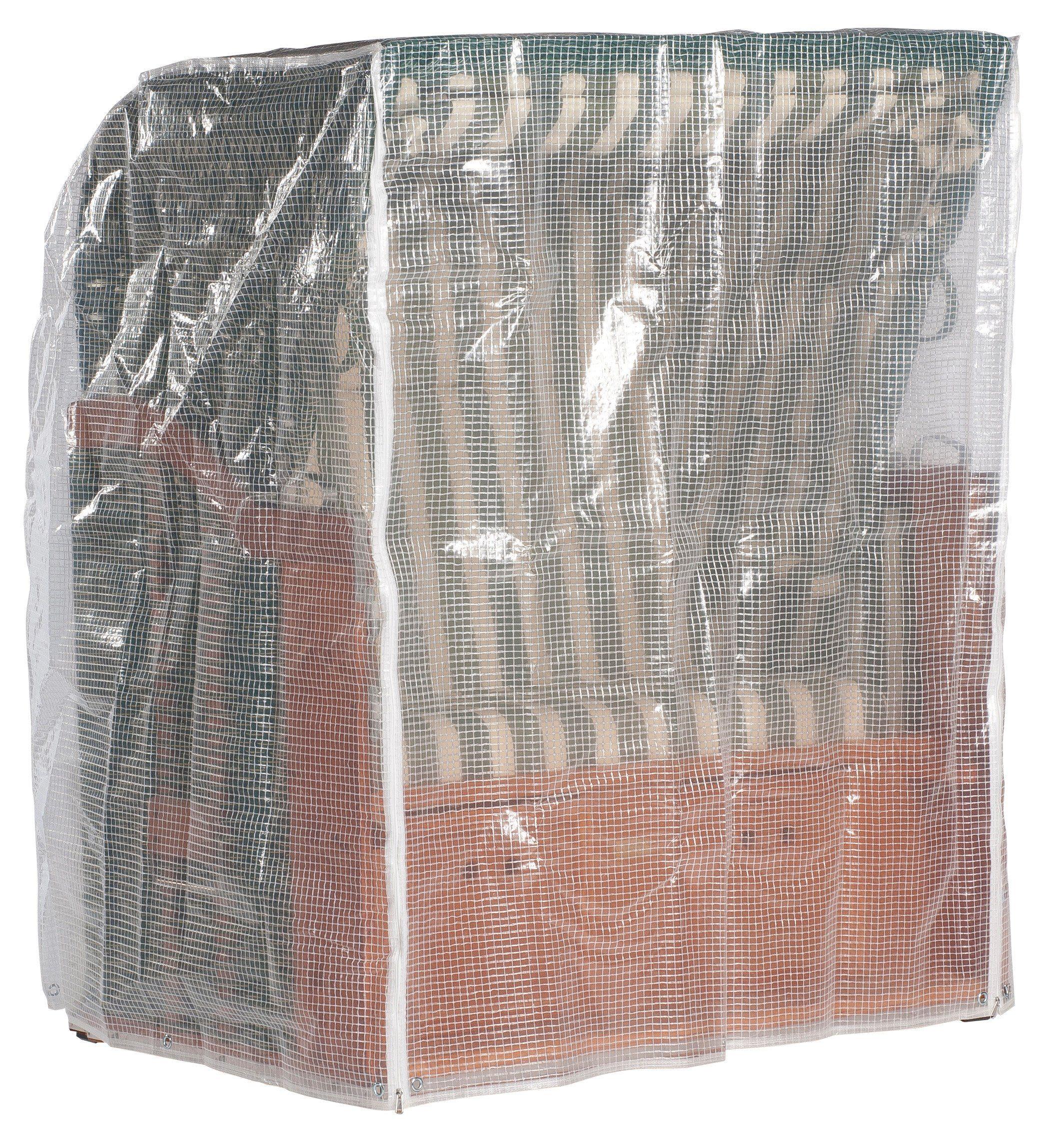Strandkorb Schutzhülle für 2-Sitzer, Transparent