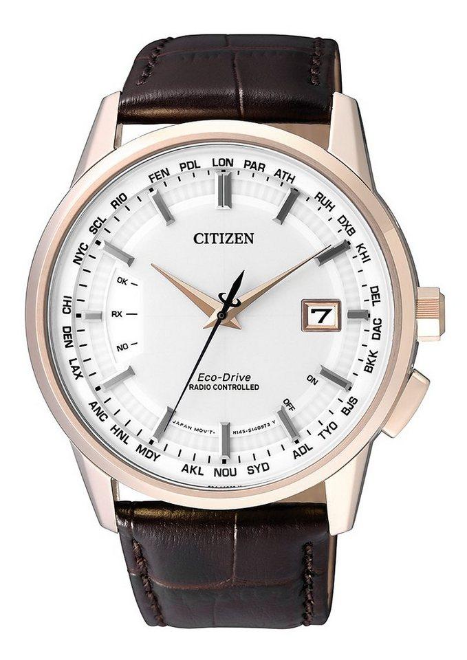 """Citizen, Funkarmbanduhr, """"CB0153-21A"""" in braun"""