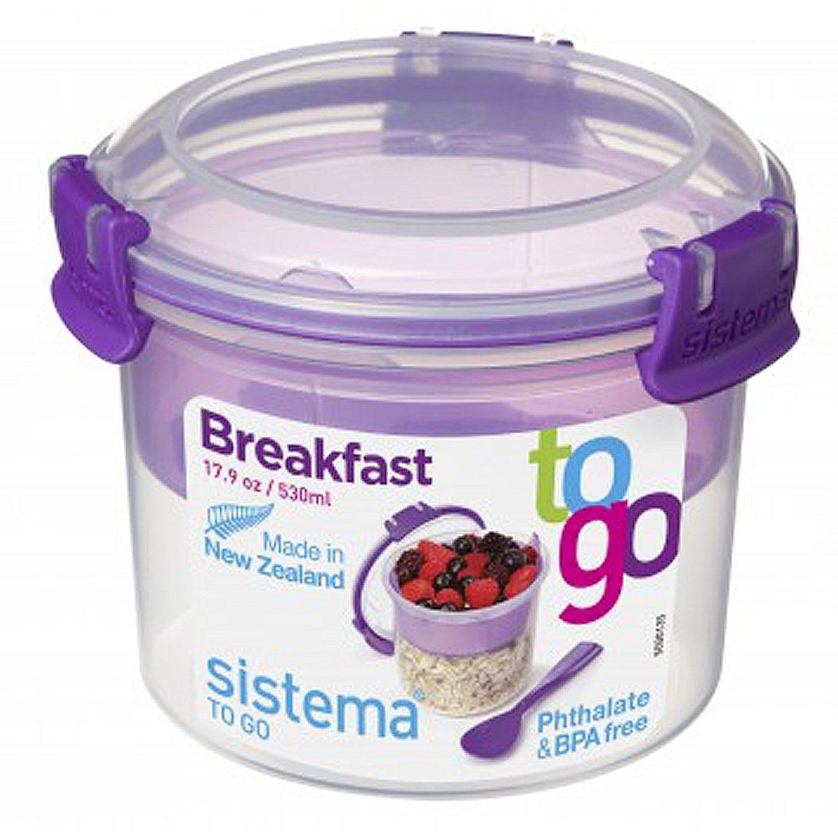 sistema sistema Box Breakfast To Go 0.53 l, lila