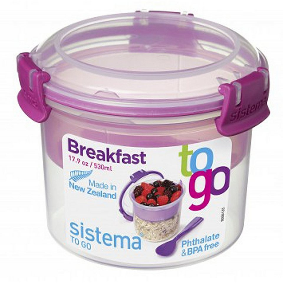 sistema sistema Box Breakfast To Go 0.53 l, pink in pink